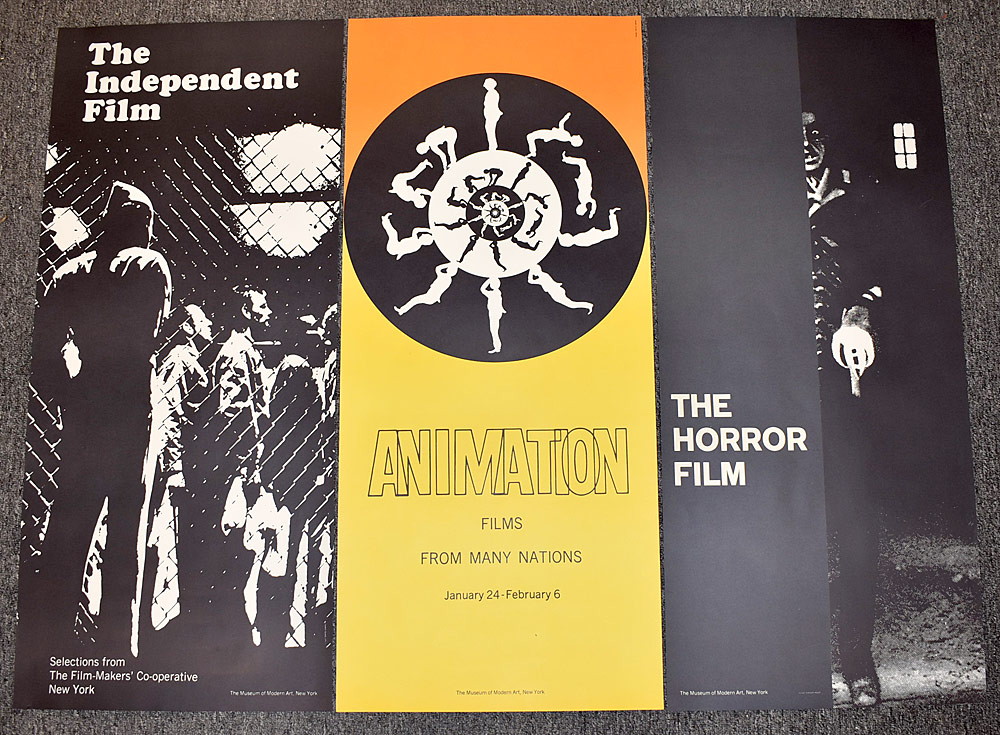 103. Three Museum of Modern Art Film Posters. $36.90