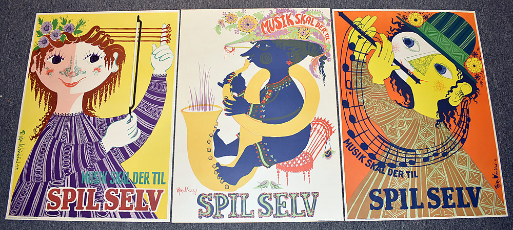 108. Three Bjorn Winblad Music Posters. $215.25