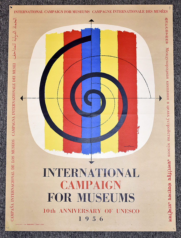 109. International Campaign for Museums Poster, 1956. $61.50