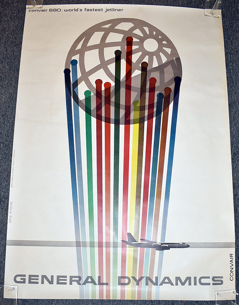 117. Erik Nitsche General Dynamics Poster, Convair. $799.50