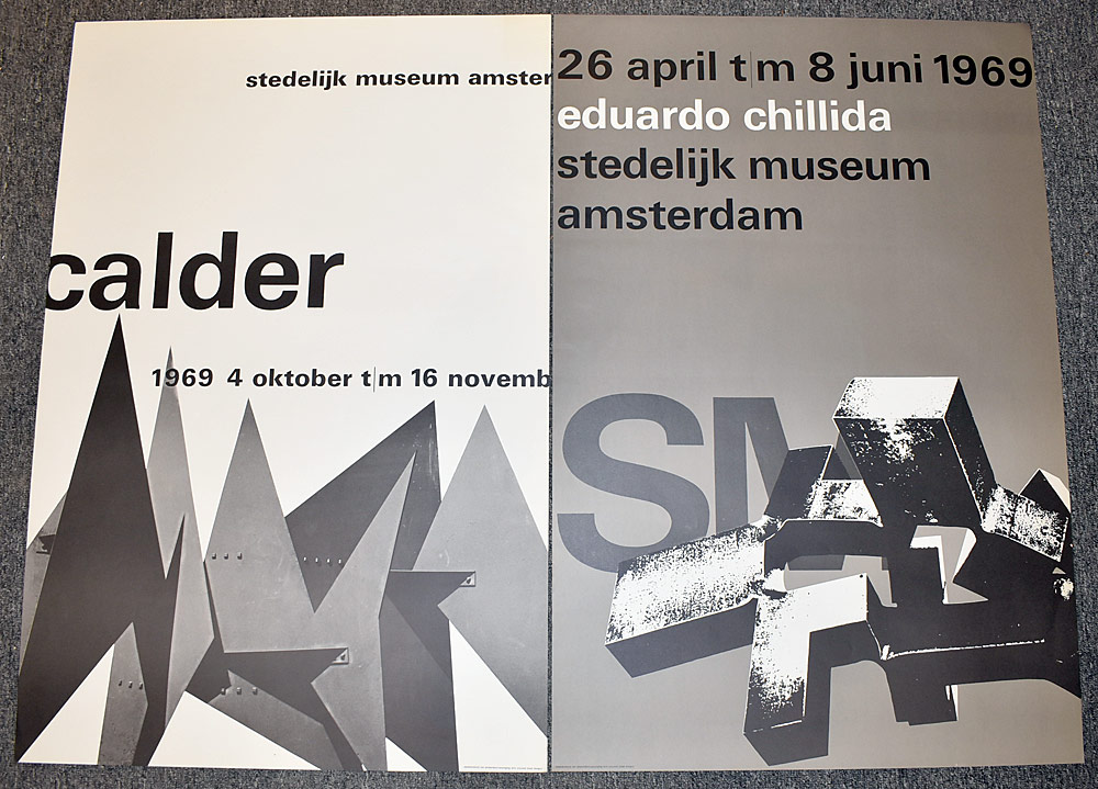 135. Two Stedelijk Museum Exhibition Posters. $522.75