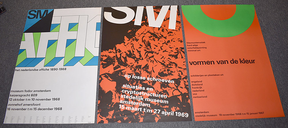 137. Three Stedelijk Museum Exhibition Posters. $430.50