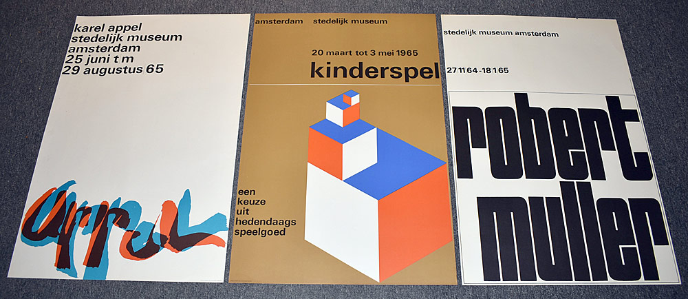 142. Three Stedelijk Museum Exhibition Posters. $430.50