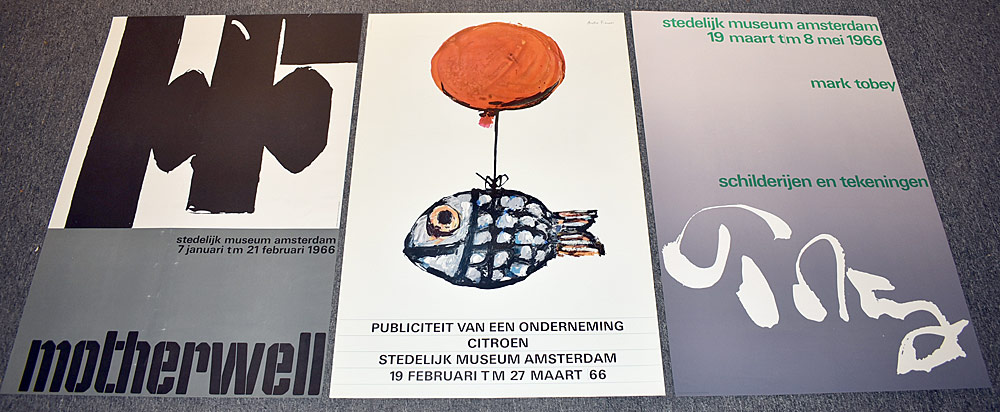 143. Three Stedelijk Museum Exhibition Posters. $153.75