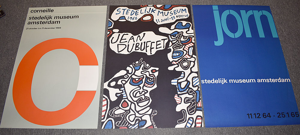 144. Three Stedelijk Museum Exhibition Posters. $461.25