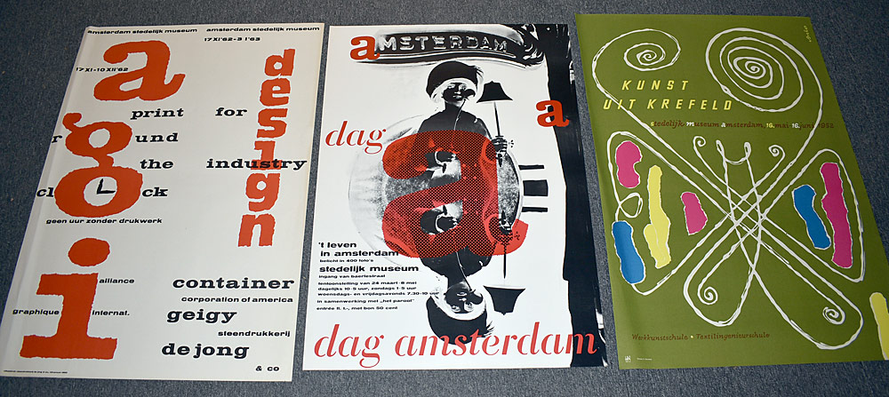 145. Three Stedelijk Museum Exhibition Posters. $36.90