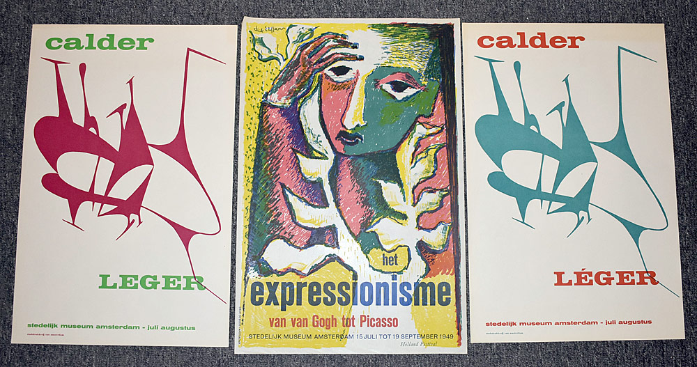 146. Three Stedelijk Museum Exhibition Posters. $184.50