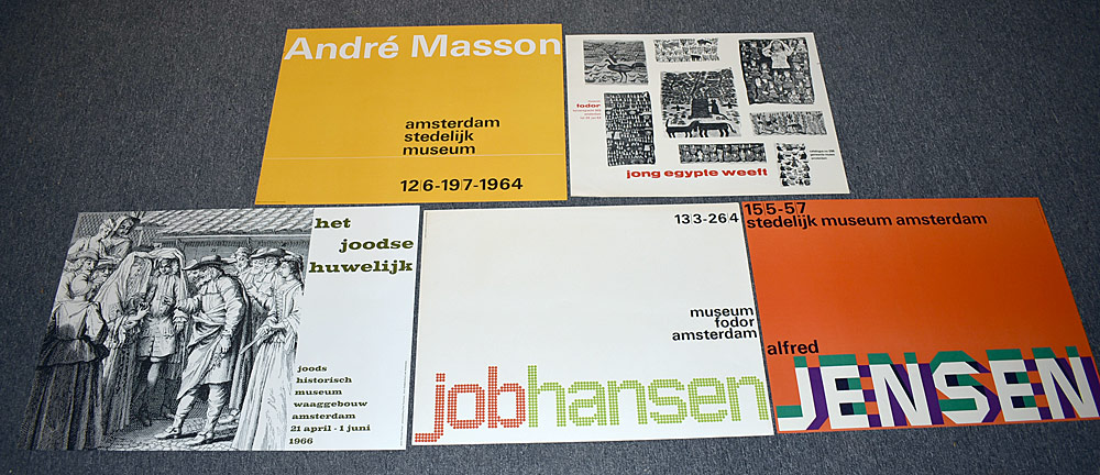 148. Five Museums Exhibition Posters. $246.