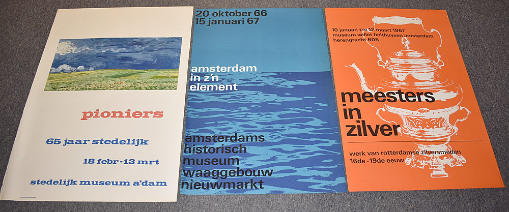 149. Three Museum Exhibition Posters. $123.