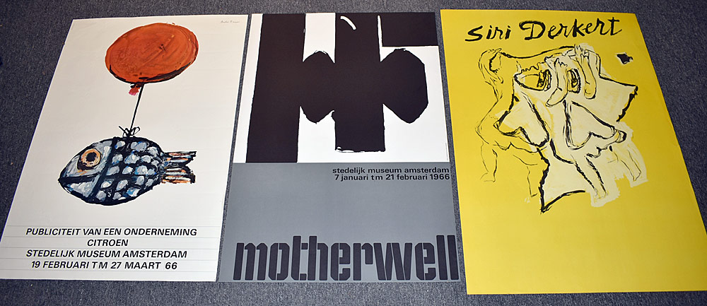 151. Three Stedelijk Museum Exhibition Posters. $123.