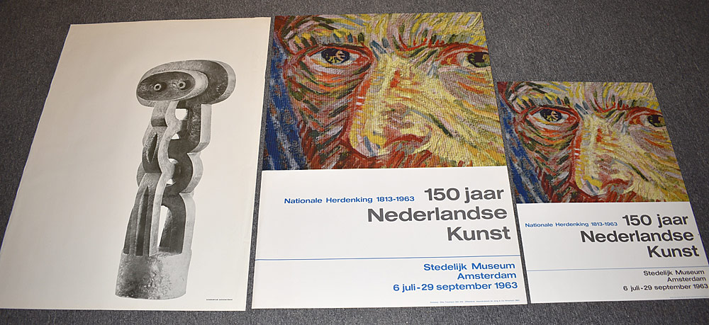 152. Three Stedelijk Museum Exhibition Posters. $24.60