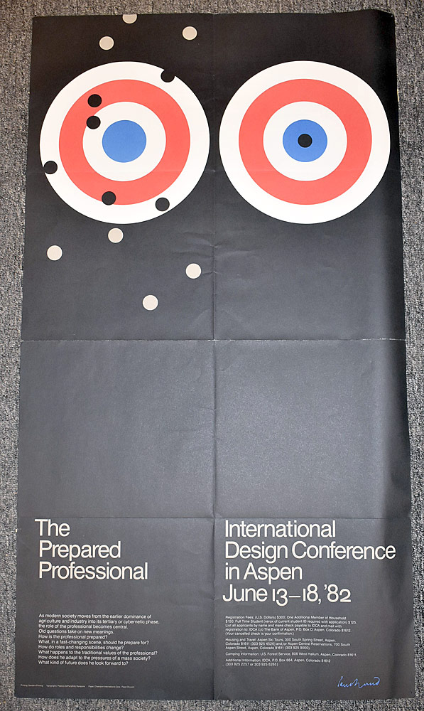159. Paul Rand International Design Conference Poster. $1,045.50