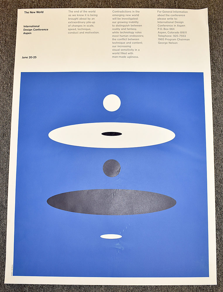 162. John Massey Internat\'l Design Conference Poster. $399.75