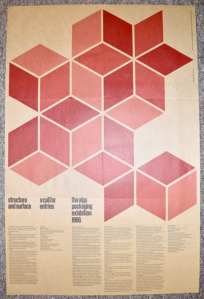 166. John Haines AIGA Exhibition Poster. $24.60