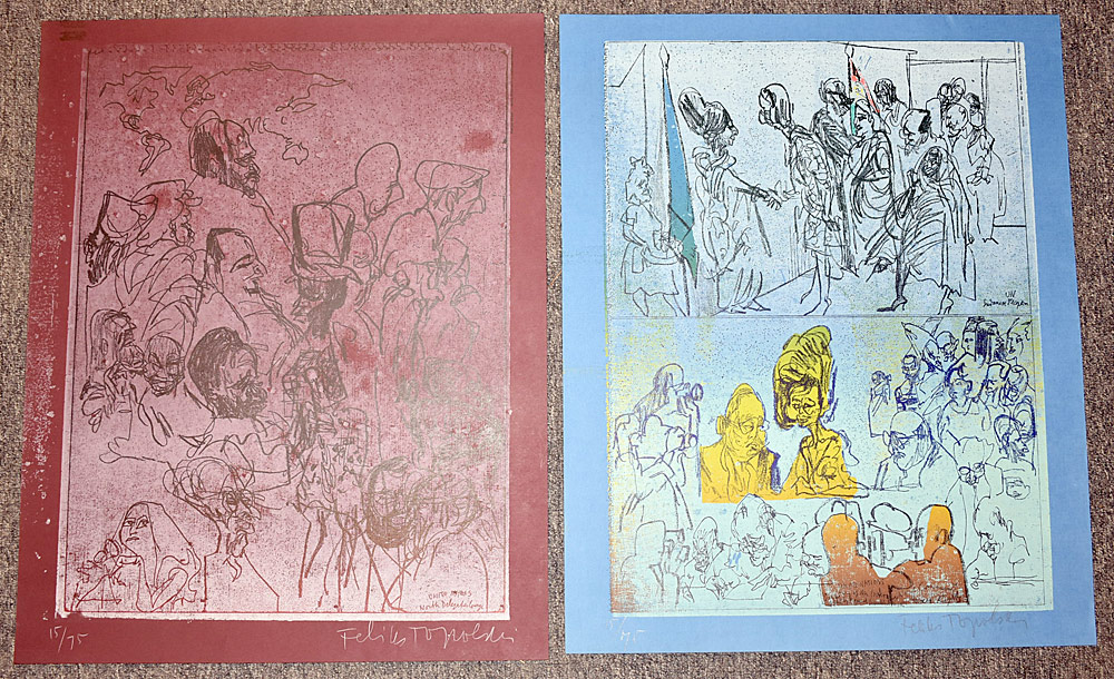 169. Two Feliks Topolski Signed Screenprints. $49.20
