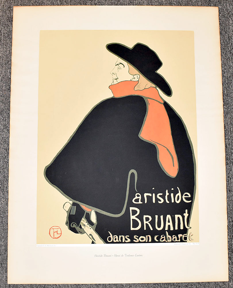 174. After Toulouse-Lautrec Lithograph Poster. $24.60