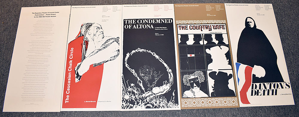 175. Four Pratt Institute/ Lincoln Center Posters. $24.60