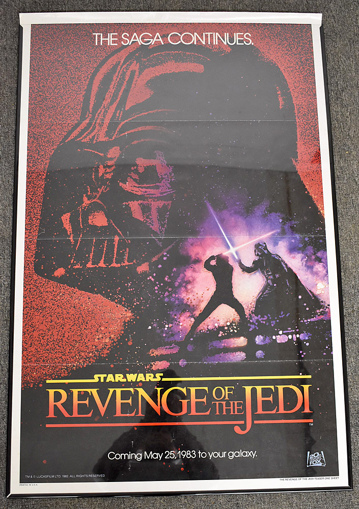 176. Revenge of The Jedi Film Poster. $922.50