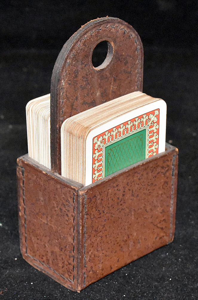 188. Attrb. Carl Aubock Leather Playing Card Case. $153.75