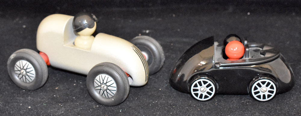 191. Two Playsam Wooden Cars. $61.50