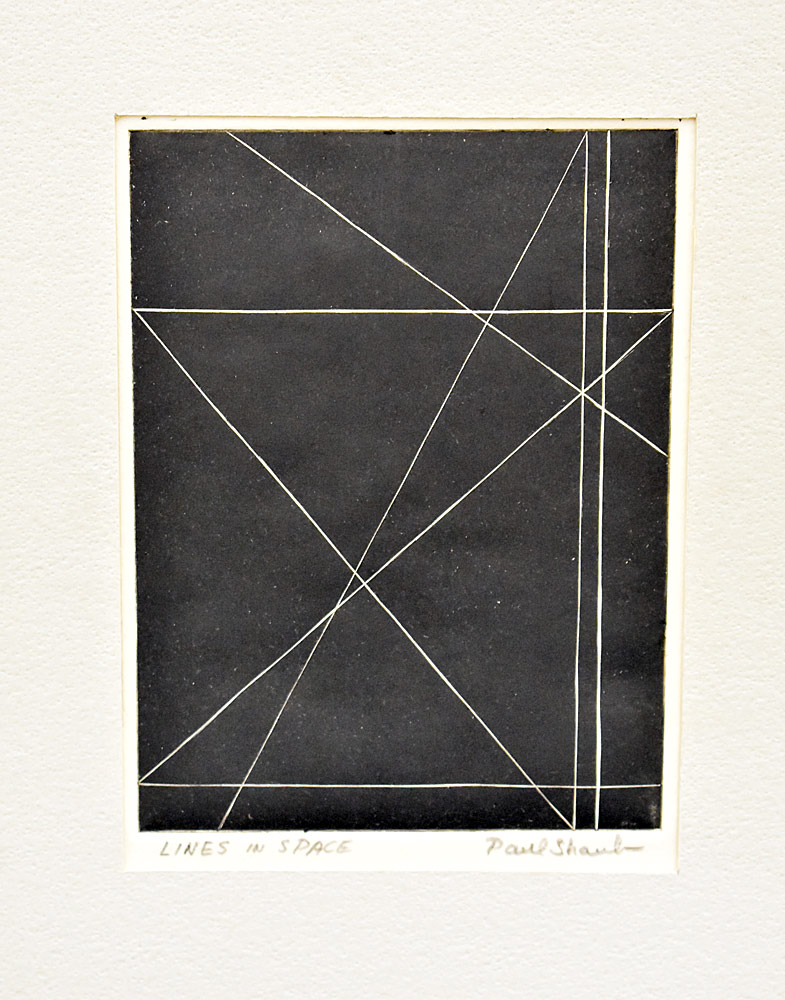 197. Paul Shaub Print, Lines in Space. $338.25