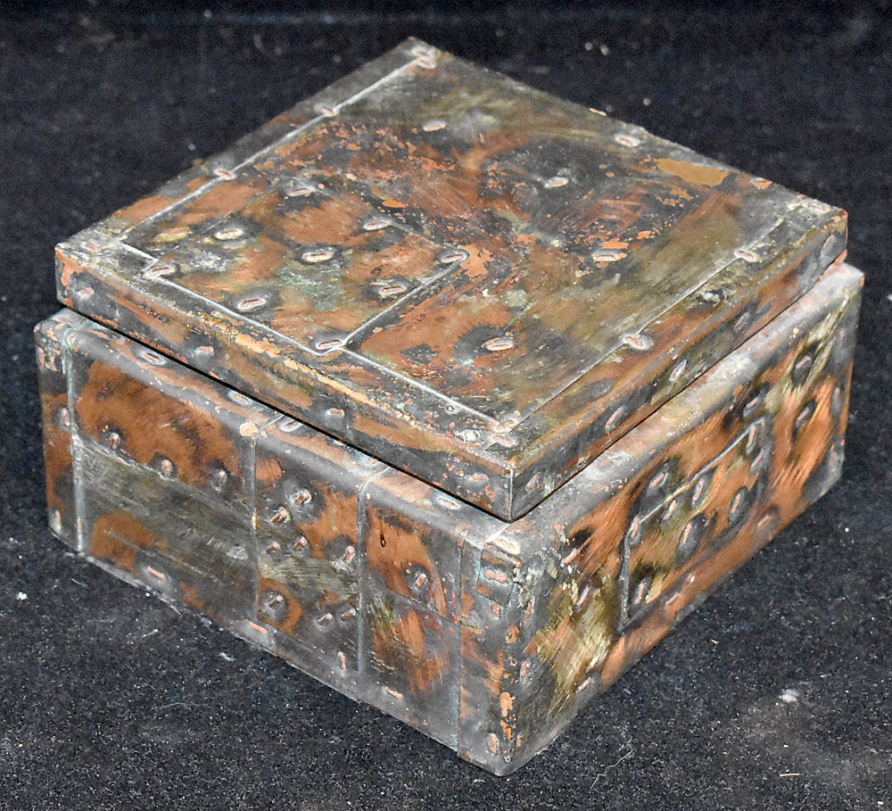 201. Paul Evans Patchwork Hinged Box. $615.