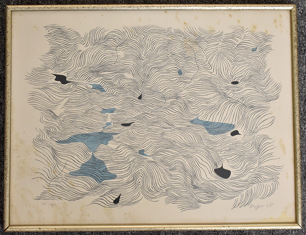 205. Herbert Bayer Lithograph, Abstract. $430.50