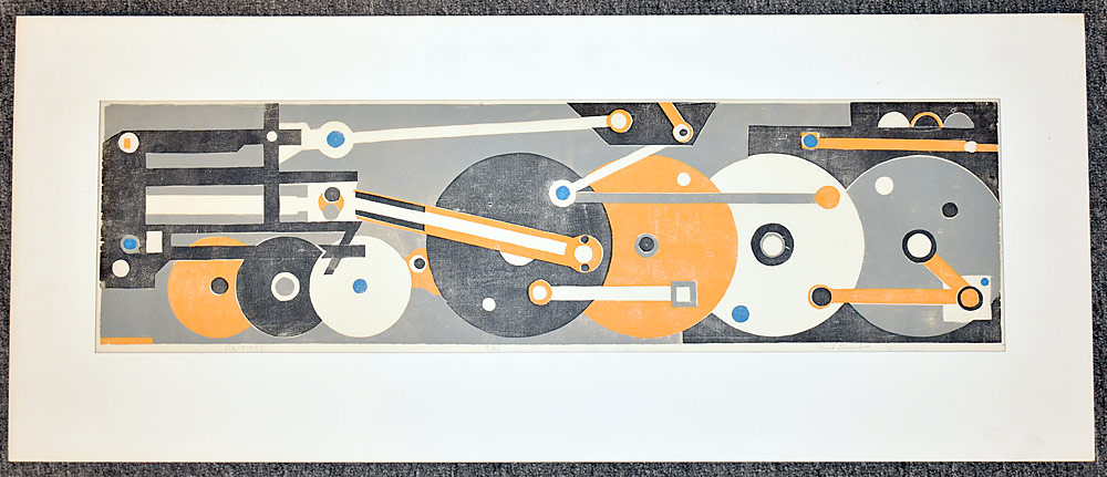 219. Paul Shaub Woodblock Print, Six-Eight. $123.