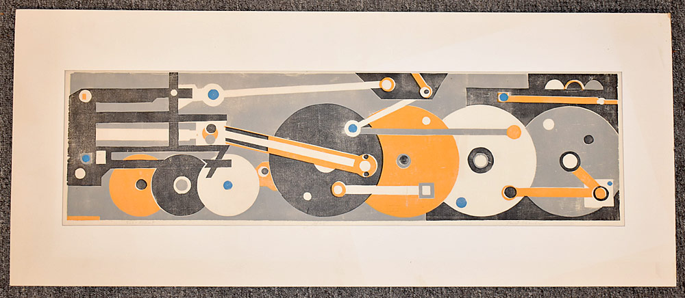220. Paul Shaub Woodblock Print, Six-Eight. $153.75