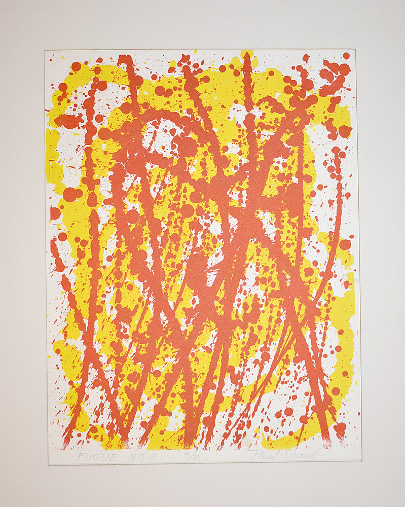 224. Paul Shaub Lithograph, Fugue No. 2. $61.50