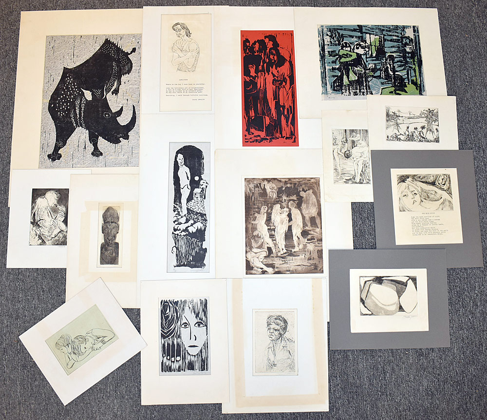 231. Fifteen Moore College of Art Engravings and Prints. $61.50