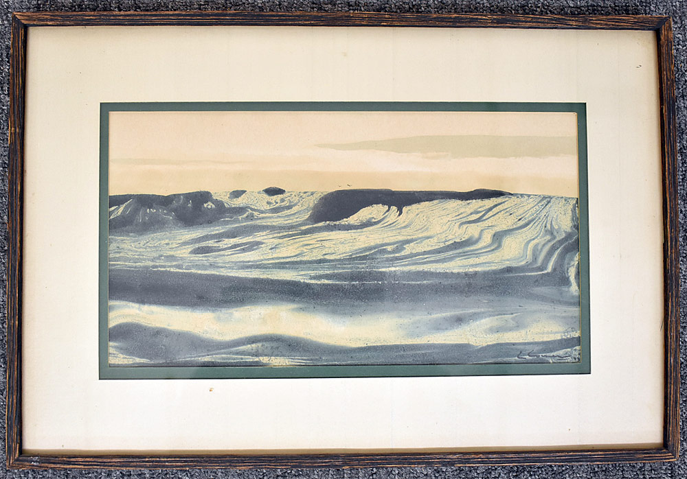 235. Charles Coiner, Watercolor Seascape. $98.40