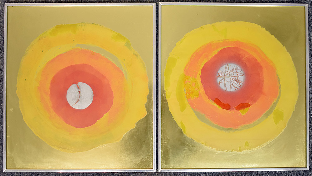 238. Two Paul Shaub Re-Entry Mixed Media Works. $184.50