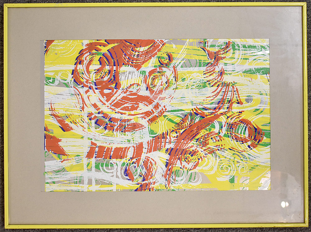 239. Paul Shaub Serigraph, Tropical Rhythm #4. $49.20