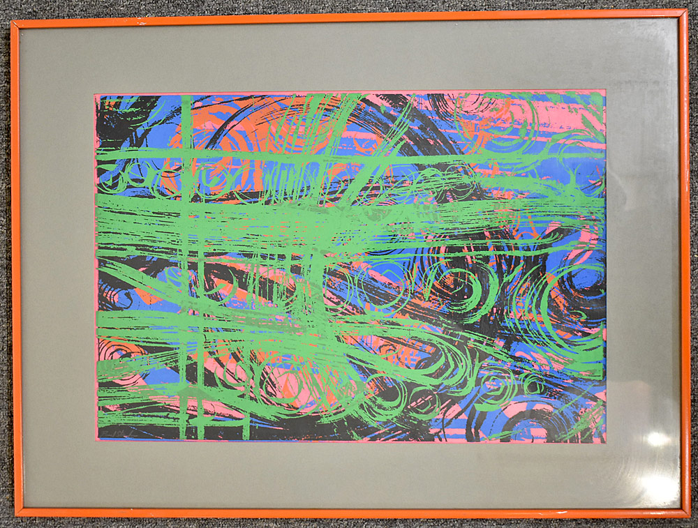 240. Paul Shaub Serigraph, Tropical Rhythm #5. $73.80