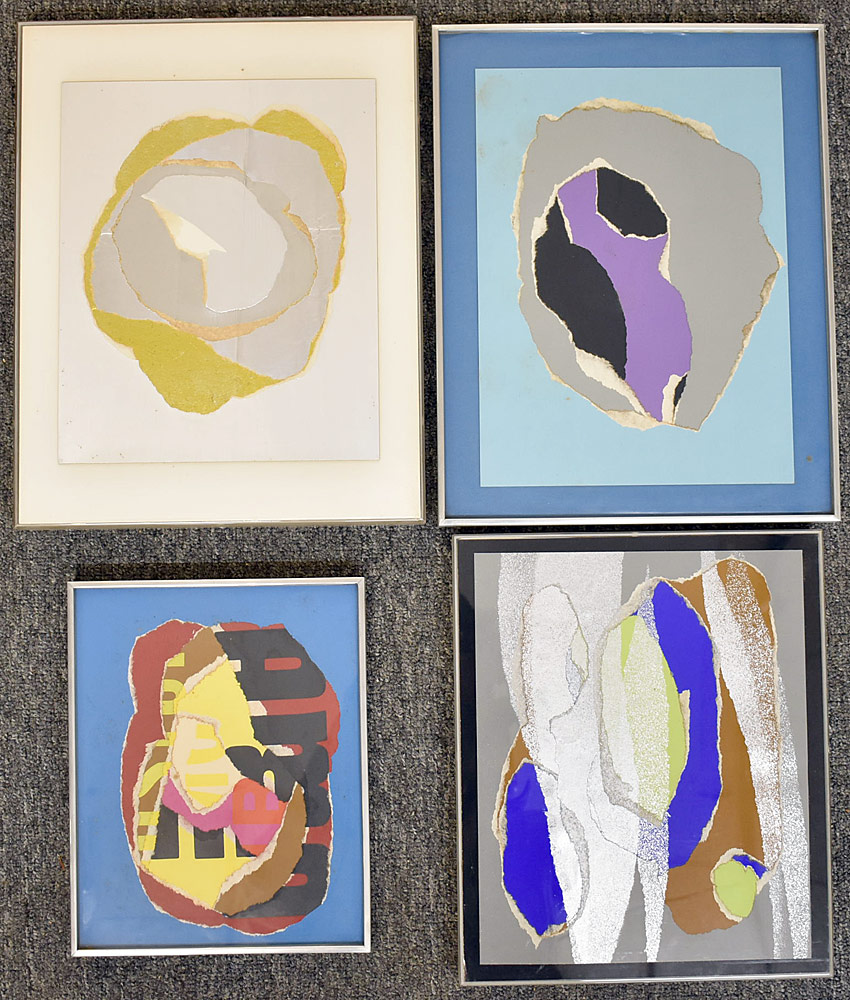 241. Four Paul Shaub Mixed Media Works. $276.75