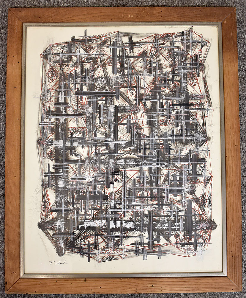 245. Paul Shaub Ink/Paper, Abstract. $276.75