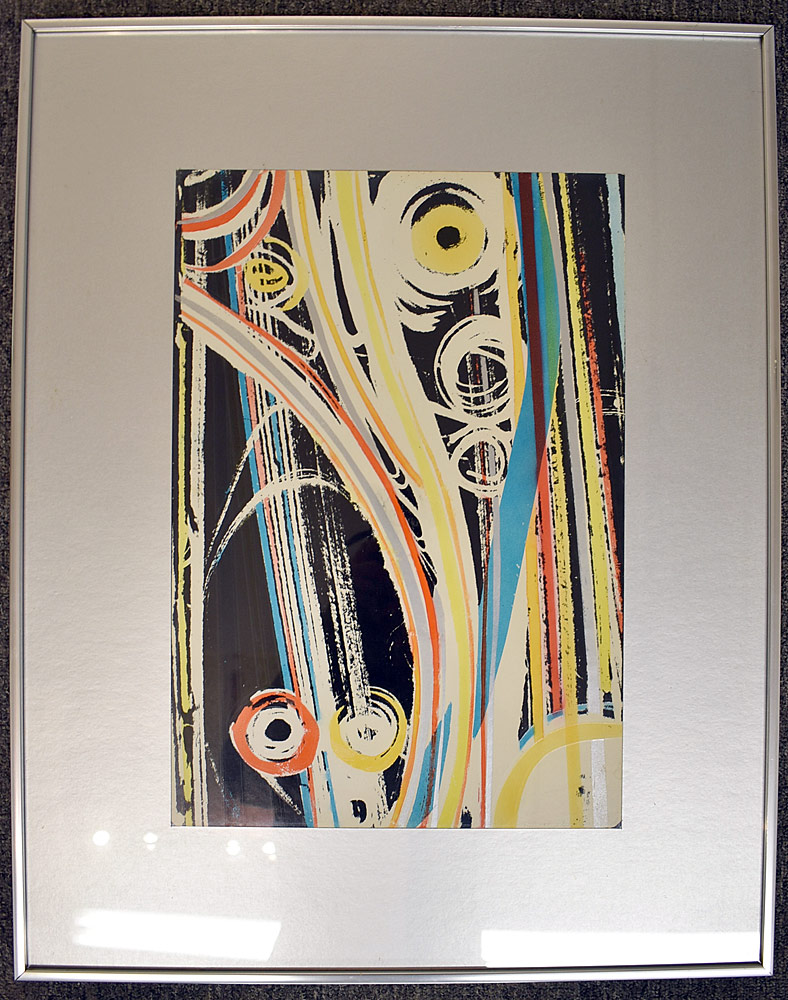 248. Paul Shaub Serigraph, Abstract. $110.70