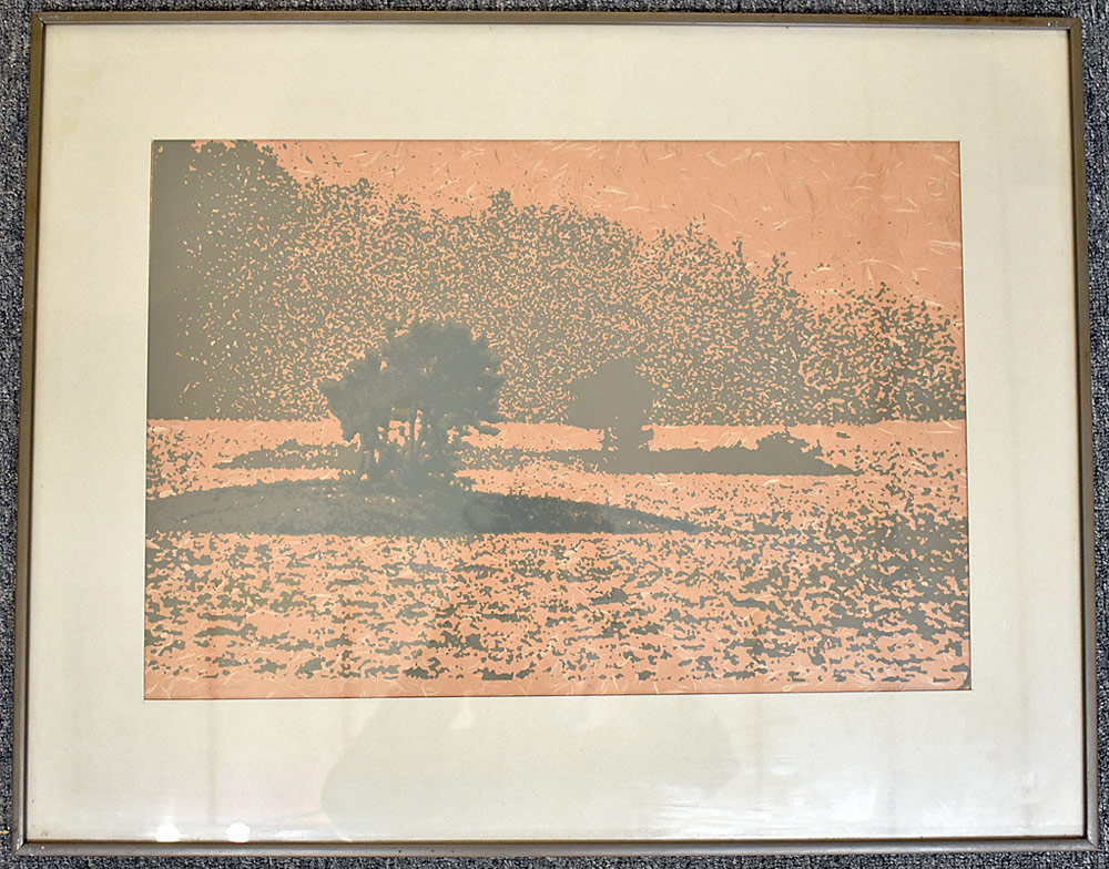 250. Paul Shaub Woodblock Print, Lakeland. $36.90