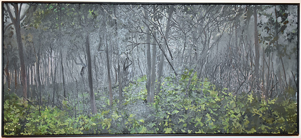 252. Johnson Hom Oil on Canvas, Foggy Morning. $399.75