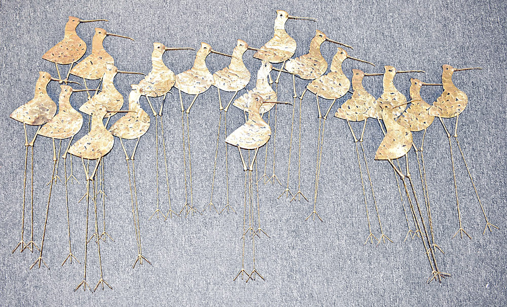253. Curtis Jere Wall Sculpture, Sandpipers. $307.50