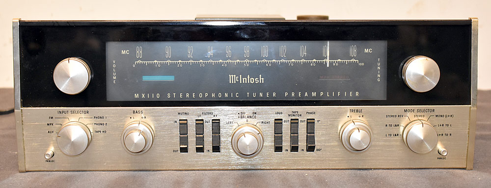 258. McIntosh MX110 Stereophonic Tuner Preamplifier. $2,091.
