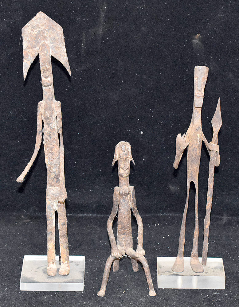 267. Three West African Iron Sculptures. $49.20