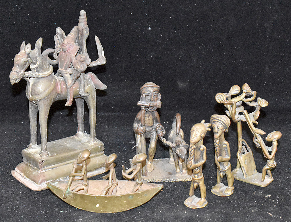 268. Grouping of Six Brass Figures. $61.50
