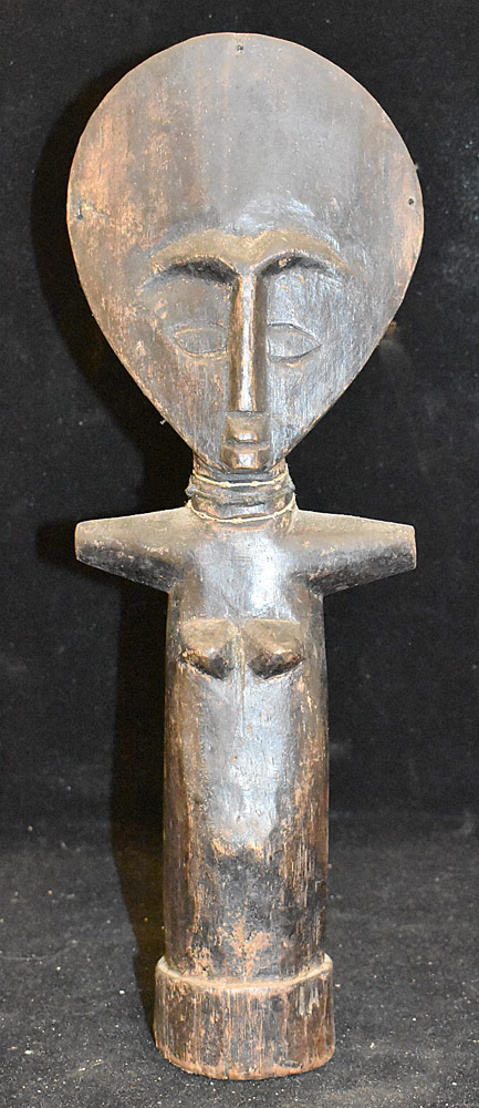 269. Ashanti Akuaba Carved Wood Fertility Figure. $24.60