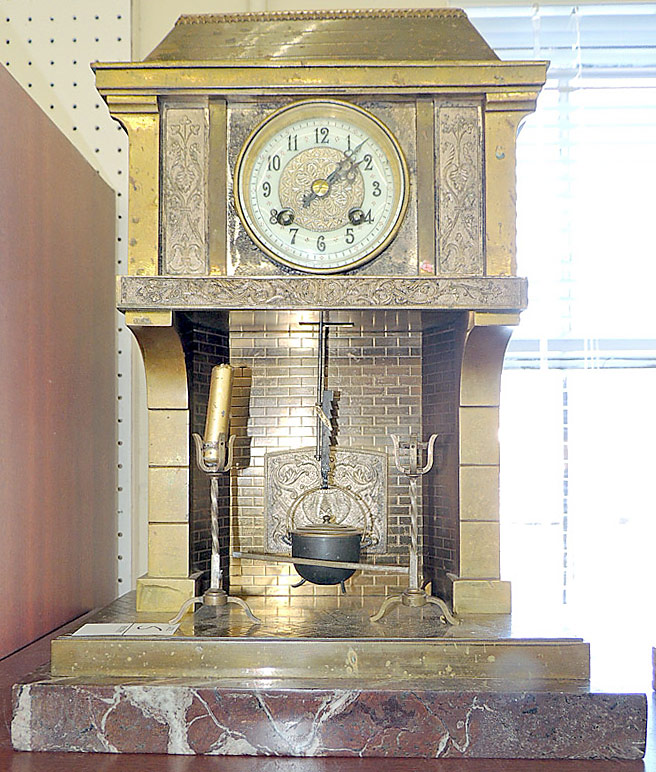 French Industrial Clock with Gilt-Bronze Case. $6,050