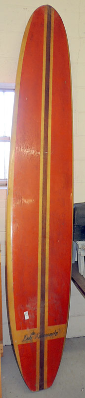 Duke Kahanamoku Surf Board. $2,530