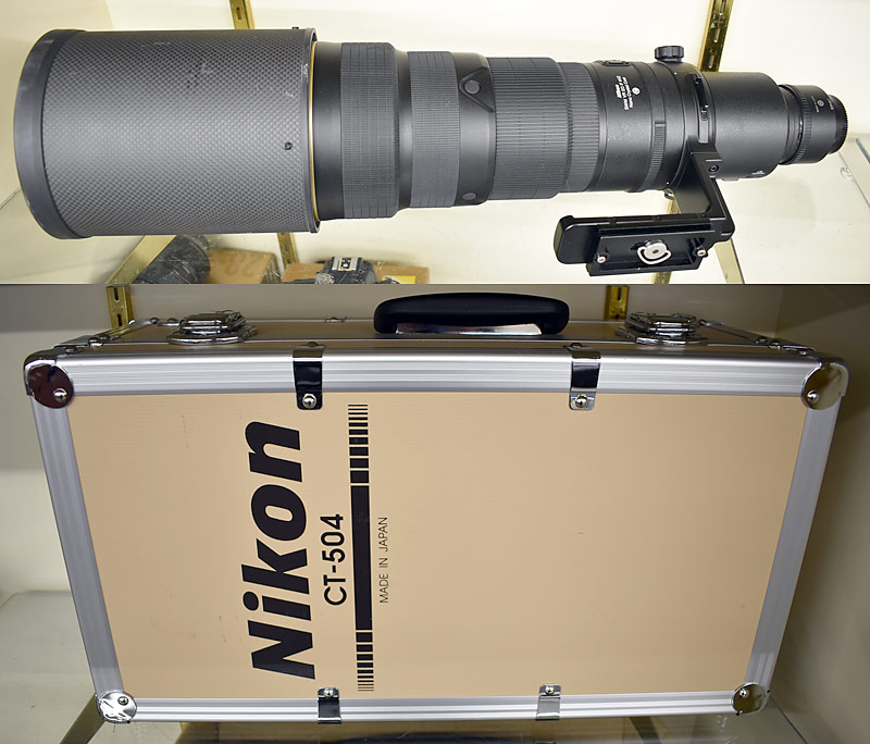 Nikon CT504 500mm Zoom Lens with Cases. $3,450