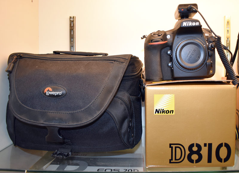 Nikon D810 Camera with Box and Accessories. $1,955