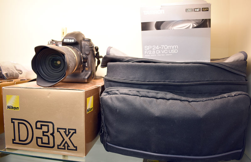 Nikon D3X Camera with Tamron Lens, Bag, & Accessories. $1,495